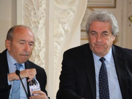 Richard Brumm, ici avec Gérard Collomb - LyonMag