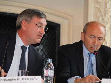 Christophe Guilloteau, ici avec le premier soutien de Macron, Gérard Collomb - LyonMag