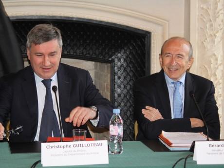 Christophe Guilloteau et Gérard Collomb - LyonMag