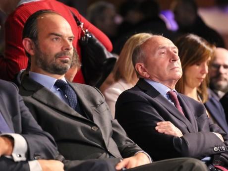 Gérard Collomb, ici avec Edouard Philippe - LyonMag