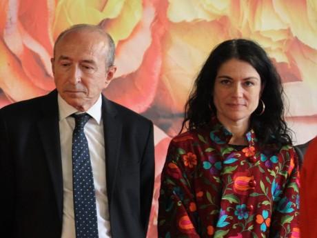 Gérard Collomb et Nathalie Perrin-Gilbert, toujours ravis d'être à côté - LyonMag