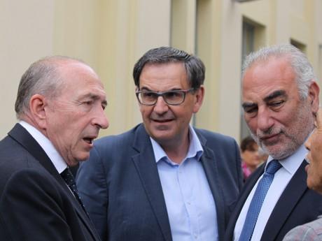 Gérard Collomb et David Kimelfeld, ici avec Georges Képénékian - LyonMag