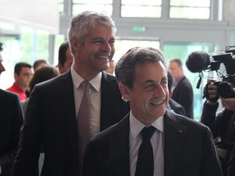 Laurent Wauquiez et Nicolas Sarkozy à Lyon jeudi dernier - LyonMag