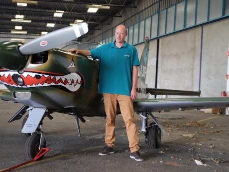 Walter Dintinger et son avion - LyonMag