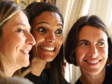 Marie-Sophie Obama au centre et Alessandra Sublet à droite - LyonMag DR