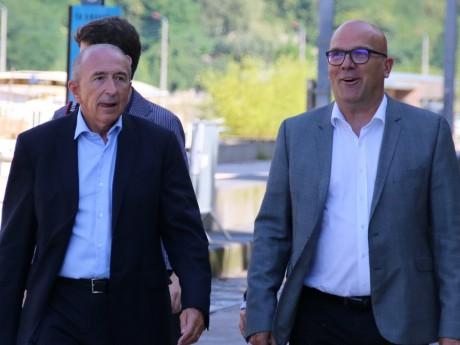 Gérard Collomb, ici avec Bruno Bonnell - LyonMag