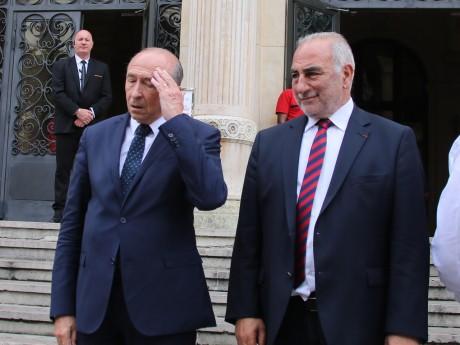 Gérard Collomb accompagné de Georges Képénékian, son suppléant - LyonMag.com