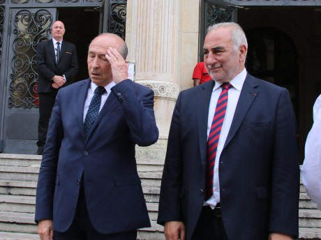 Gérard Collomb, avec son successeur-prédécesseur Georges Képénékian - LyonMag