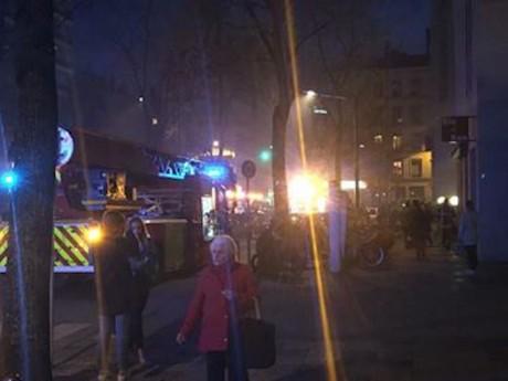 Photo de l'incendie du garage dans le 6e arrondissement - LyonMag.com