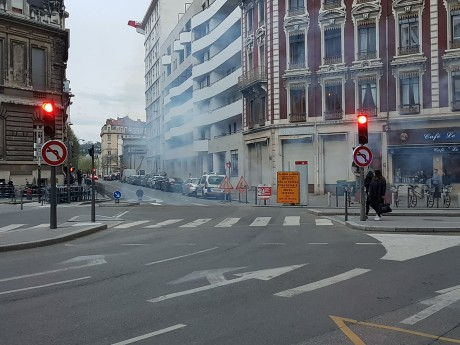 Du gaz lacrymo place Jean-Macé - LyonMag
