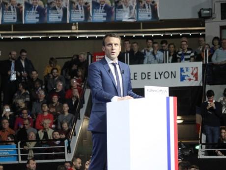 Emmanuel Macron lors de son meeting à Lyon - LyonMag