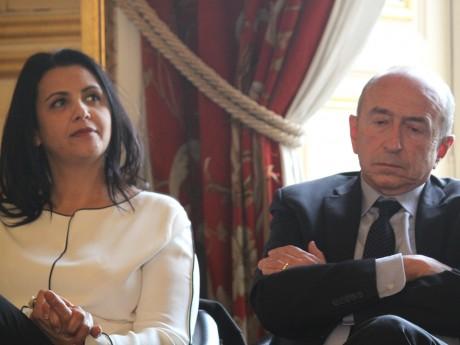 Fouziya Bouzerda aux côté de Gérard Collomb - LyonMag.com