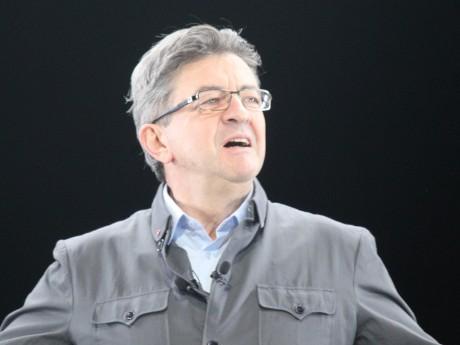 Jean-Luc Mélenchon, dimanche lors de son meeting à Eurexpo - LyonMag