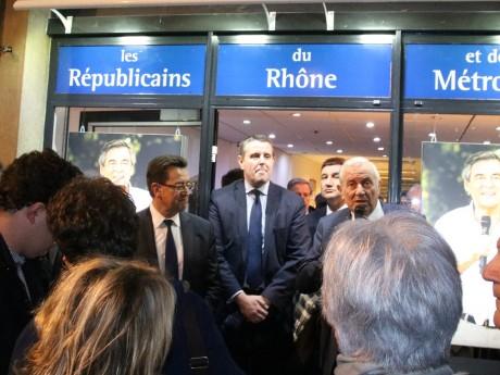 Philippe Cochet et Michel Forissier, ici entourant Patrice Verchère, vont passer le relais à une nouvelle génération - LyonMag