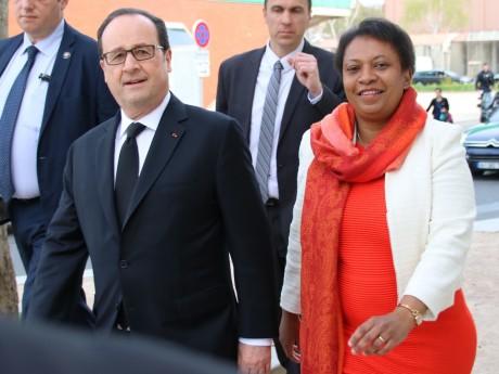 Hélène Geoffroy, ici avec François Hollande - LyonMag