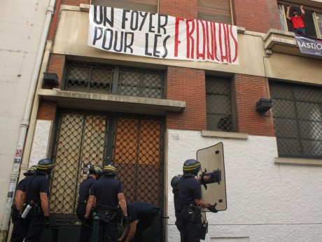 La première intervention policière contre le Bastion social le 13 juin dernier - LyonMag