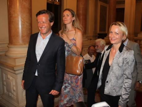 Thomas Rudigoz, ici avec Caroline Collomb, le soir du 1er tour - LyonMag