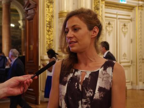 Blandine Brocard (LREM), interviewée à la préfecture le soir du premier tour - LyonMag