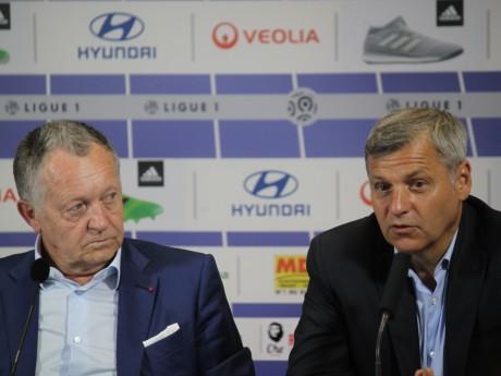 Jean-Michel Aulas et Bruno Genesio - LyonMag