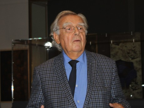 Bernard Pivot lors de sa visite le mois passé au musée des Tissus - LyonMag