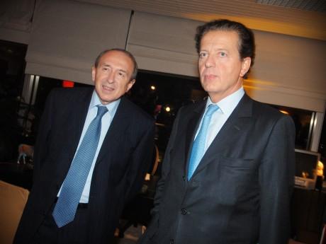 Dominique Perben, ici avec Gérard Collomb - Archives LyonMag