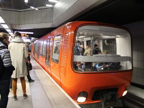 Le métro D à Bellecour - LyonMag.com