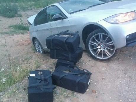 L'Audi et la drogue - DR Gendarmerie du Rhône