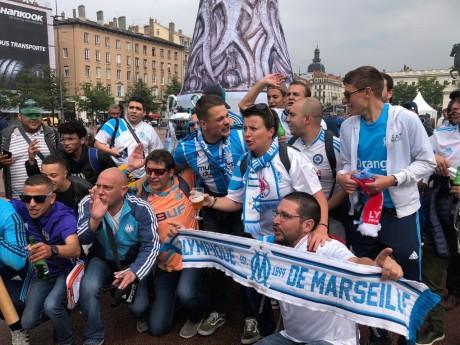 Des supporters marseillais à Lyon, pour la dernière finale de la Ligue Europa - LyonMag