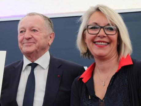 Jean-Michel Aulas et Laurence Fautra - LyonMag