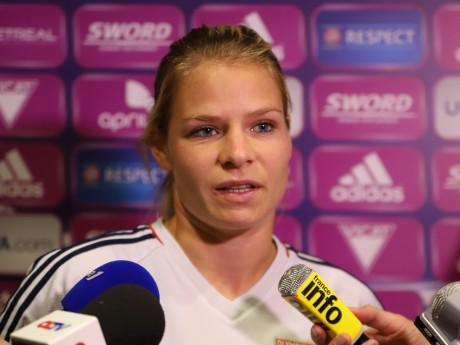 Eugénie Le Sommer avait marqué le premier but contre la Corée avant de s'effacer progressivement durant la rencontre - LyonMag