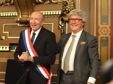 Gérard Collomb et Roland Bernard, lui aussi signataire du communiqué - LyonMag