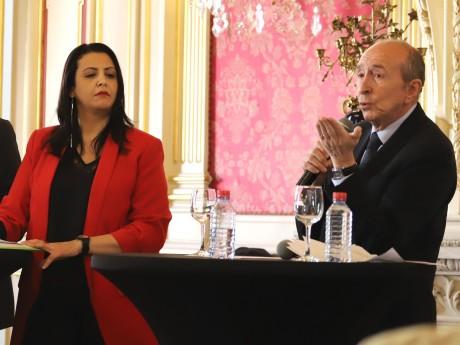 Fouziya Bouzerda et Gérard Collomb - LyonMag