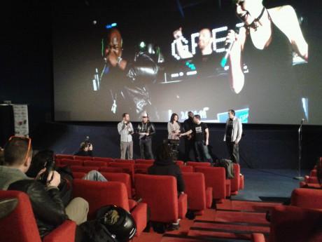 Greg Ceven et son équipe au Pathé Bellecour - Photo LyonMag
