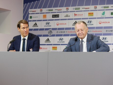 Rudi Garcia et Jean-Michel Aulas - LyonMag