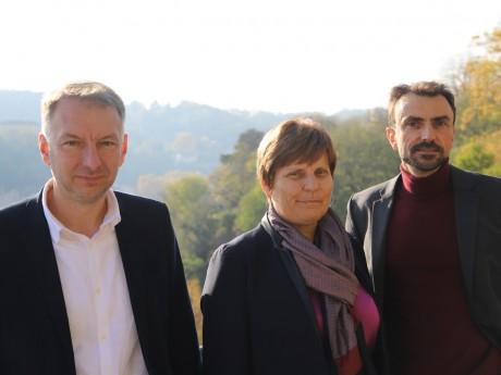 Bruno Bernard et Grégory Doucet, ici avec Béatrice Vessiller, candidate à Villeurbanne - LyonMag