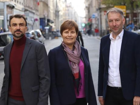 Grégory Doucet et Bruno Bernard, avec Béatrice Vessiller - LyonMag