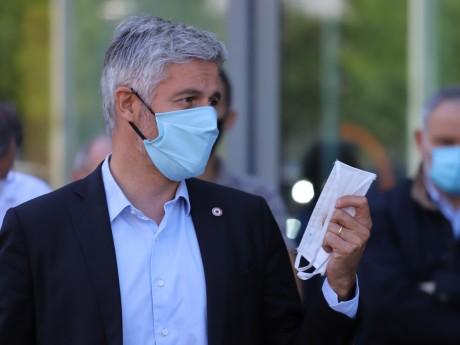Laurent Wauquiez et la Région n'ont pas manqué de distribuer des masques - LyonMag.com