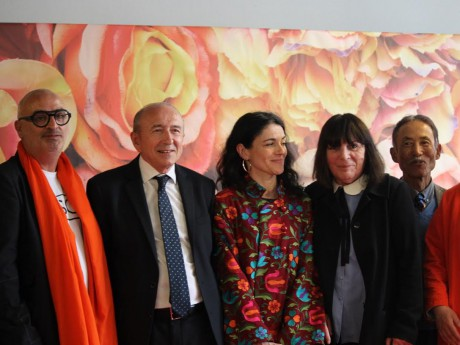 Alain Boix, Gérard Collomb, Nathalie Perrin-Gilbert, Nadine Gelas et Nino Satoru - LyonMag