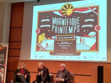 Carine Fernandez, Loïc Graber et Thierry Renard lors de la présentation de la troisième édition du Magnifique Printemps- LyonMag