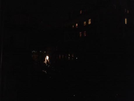 La place Gerson (5e) est plongée dans le noir - Photo Lyonmag