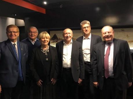 Gérard Collomb, aux côtés notamment de Christophe Geourjon ce week-end - DR