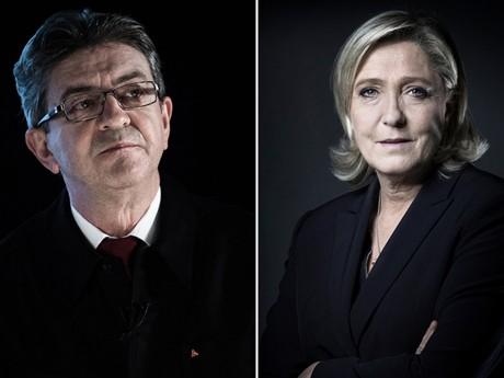 Jean-Luc Mélenchon et Marine Le Pen - Montage DR