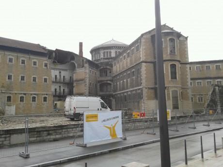 Une vue inédite sur la cour de l'ancienne prison Saint-Paul - Photo LyonMag