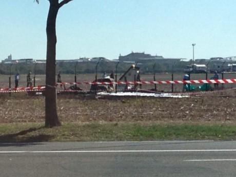 La carcasse de l'avion après le crash du 24 septembre à Bron - LyonMag