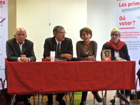Charles Fiterman, Jean-Jack Queyranne, Najat Valaud-Belkacem et florence Perrin affichent leur soutien à Ségolène Royal - LyonMag