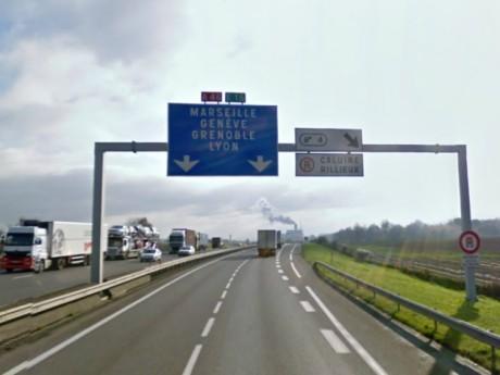 L'A46 Nord à hauteur de Rillieux - Photo Google Maps