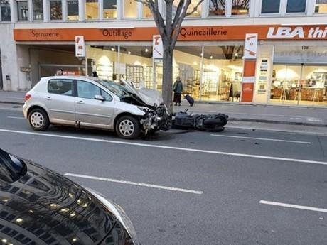 Le scooter après l'accident - LyonMag