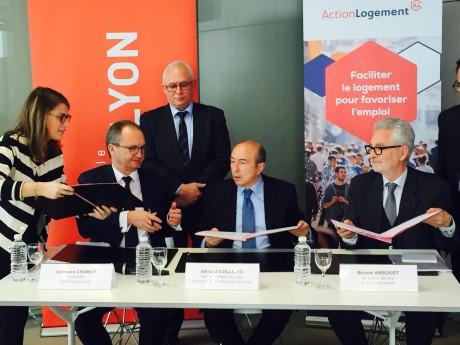 La signature ce vendredi de la convention entre Métropole et Action Logement - LyonMag