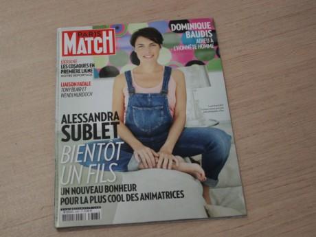 Alessandra Sublet à la une de Paris Match cette semaine - LyonMag