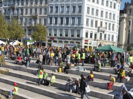 Les anti-nucléaires s'étaient déjà mobilisés à Lyon en octobre dernier - LyonMag.com